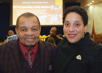 Lew Moye and Kimberly Gardner
