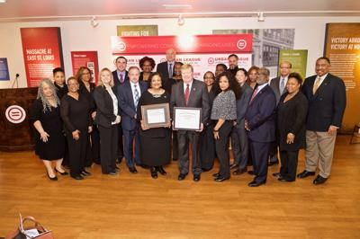 Leadership and staff of the Urban League of Metropolitan St. Louis and Lutheran Senior Services