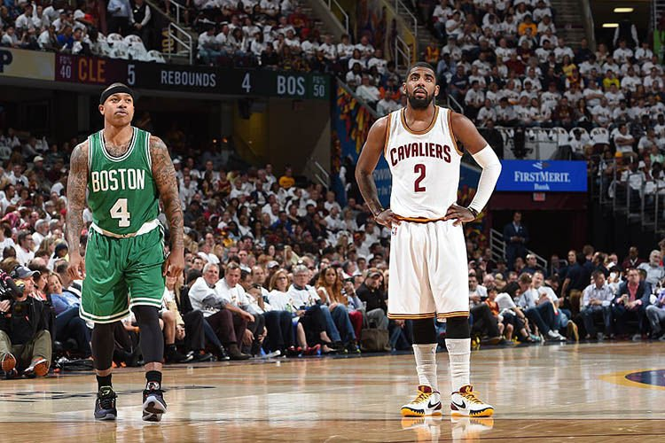 Kyrie Irving Introduced as a Boston Celtic, Praises LeBron James