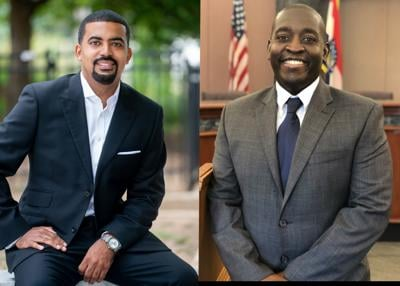 Gilbert Campbell, co-founder and CEO of Volt Energy and Maurice Muia, Richmond Heights Councilman