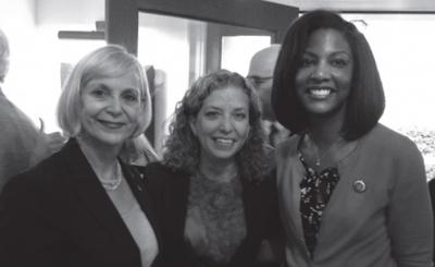 Rep. Stacey Newman, Rep. Tishaura O. Jones with U.S. Rep. Debbie Wasserman Schultz