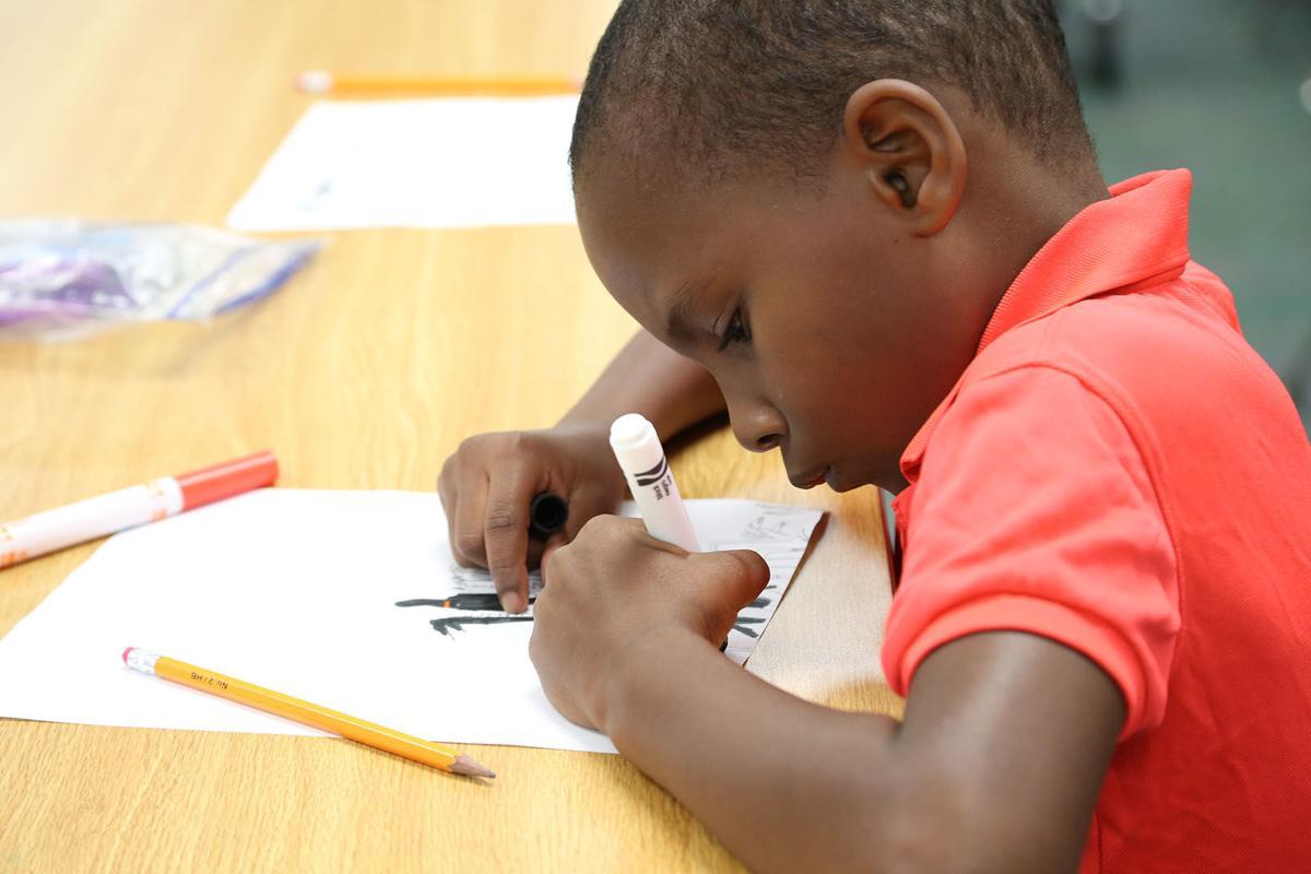 Moline Elementary student