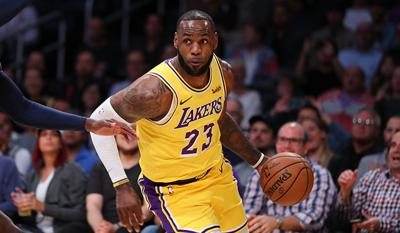 buy online c00c4 085ec LeBron injures groin during win of GSW | Local Sports ...