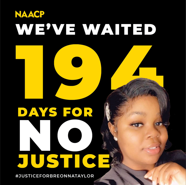 The NAACP statement regarding Louisville city official's decision to indict 1 police officer in connection with the murder of Breonna Taylor
