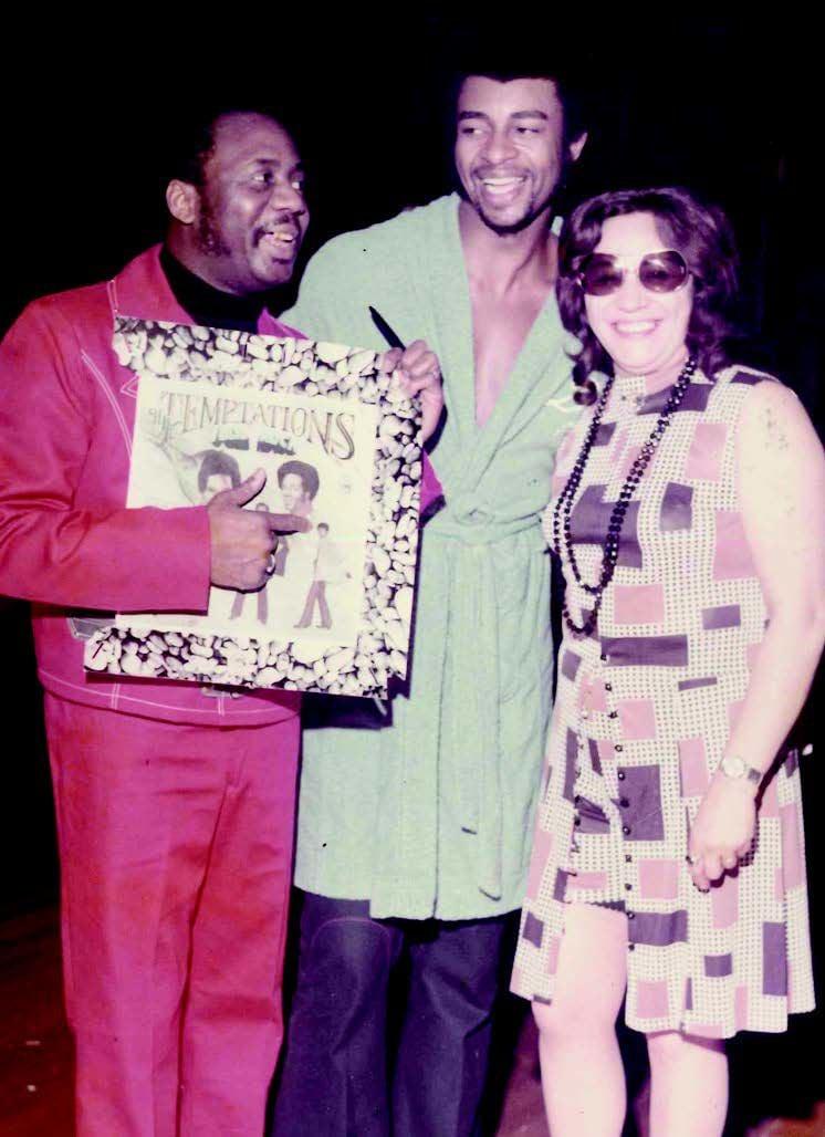 Bernie Hayes with Dennis Edwards