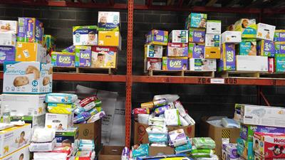 The St. Louis Area Diaper Bank warehouse