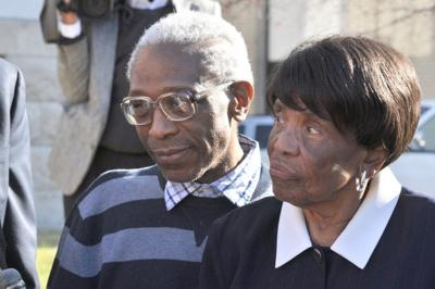 George Allen Jr. and mother Lonzetta Taylor