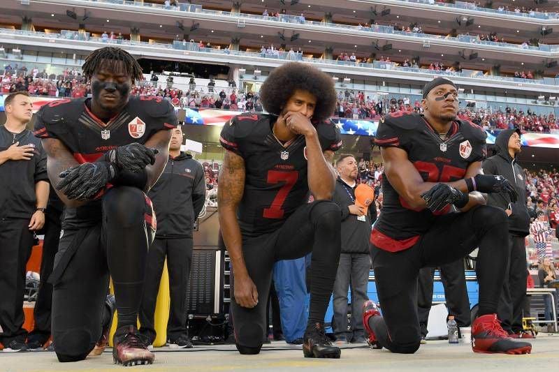 Kneeling during the anthem