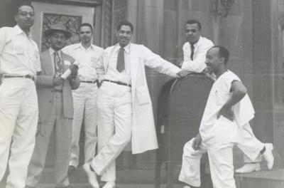 Photo of Homer G. Phillips Hospital staff for editorial