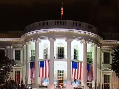The White House in the evening