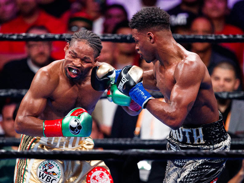 Shawn Porter and Errol Spence Jr.