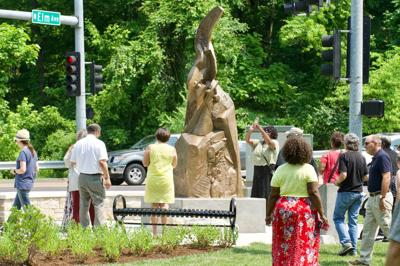 Webster Groves honors legacy of historic African American community with statue in Barbre Park