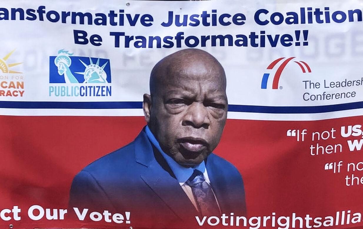 """Good Trouble"" votercade rallies St. Louis against voter suppression"