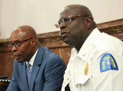 Jimmie Edwards and Police Chief John Hayden