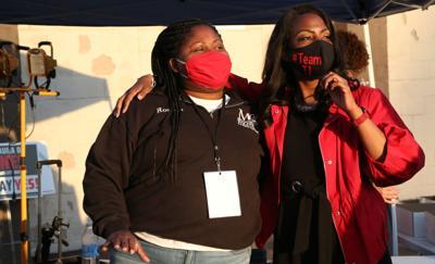 Rosetta Okohson-Reb  with Treasurer Tishaura Jones days before she was elected mayor
