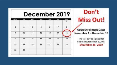 Open Enrollment for health insurance ends December 15