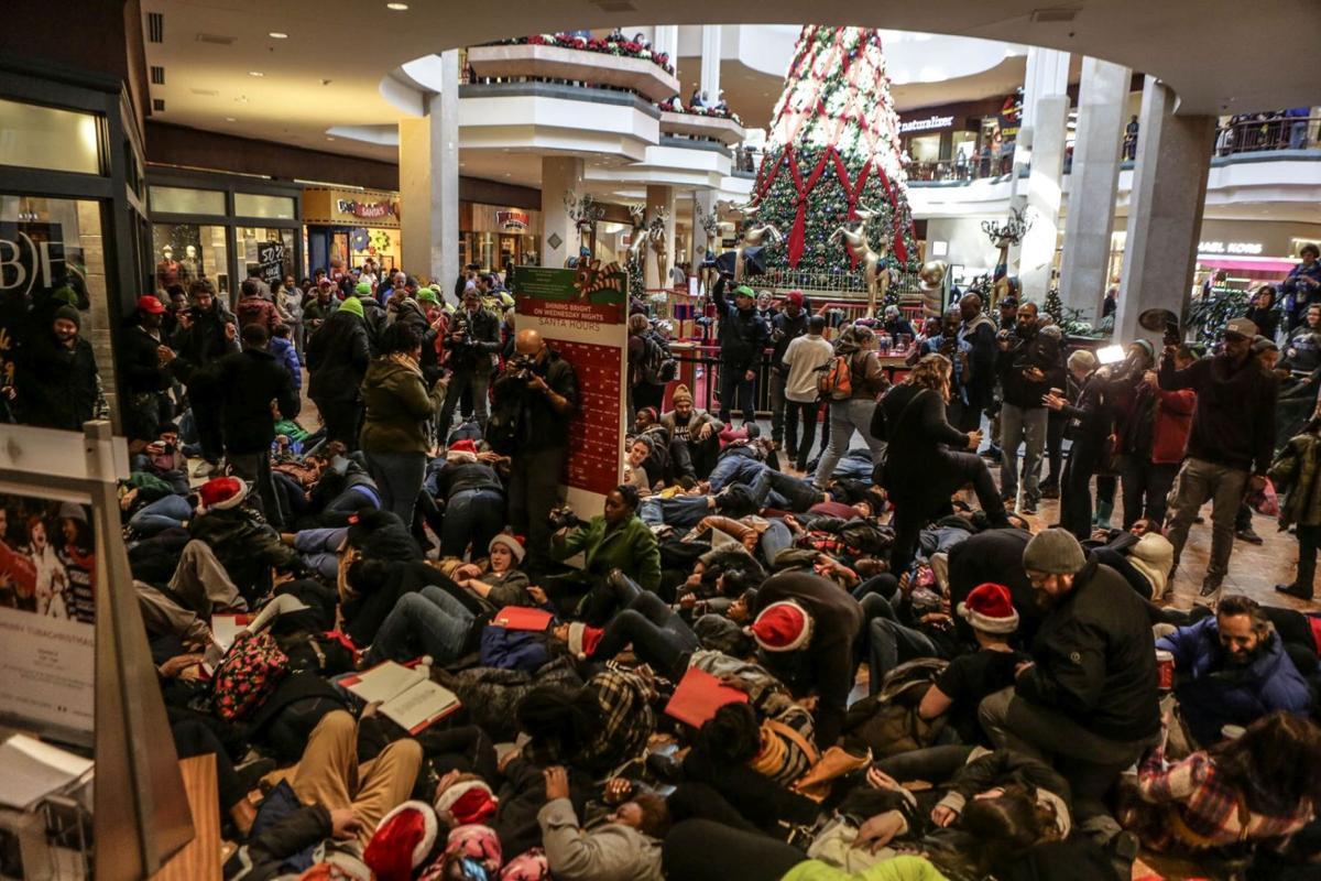 Black Friday Die-In at the St. Louis Galleria
