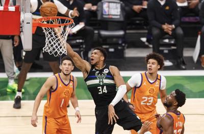 Giannis Antetokounmpo NBA Finals MVP on July 20, 2021