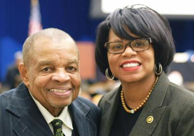 Lew Moye and State Senator Jamilah Nasheed
