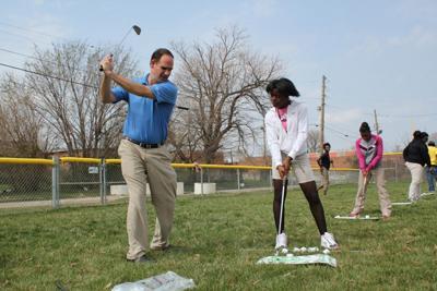 Michael Brown teaches golf