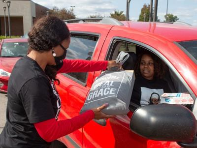 Southern Illinois University Edwardsville East St. Louis Charter High School's Drive-up and Pick-up Day
