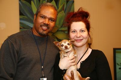 Cardell Jordan, Amy Meley and her long-lost Chihuahua named Stinky