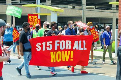 $15 minimum wage strike