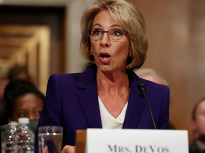 After Devos Vote Fight For Public >> Betsy Devos Confirmed As Education Secretary Vice President Casts