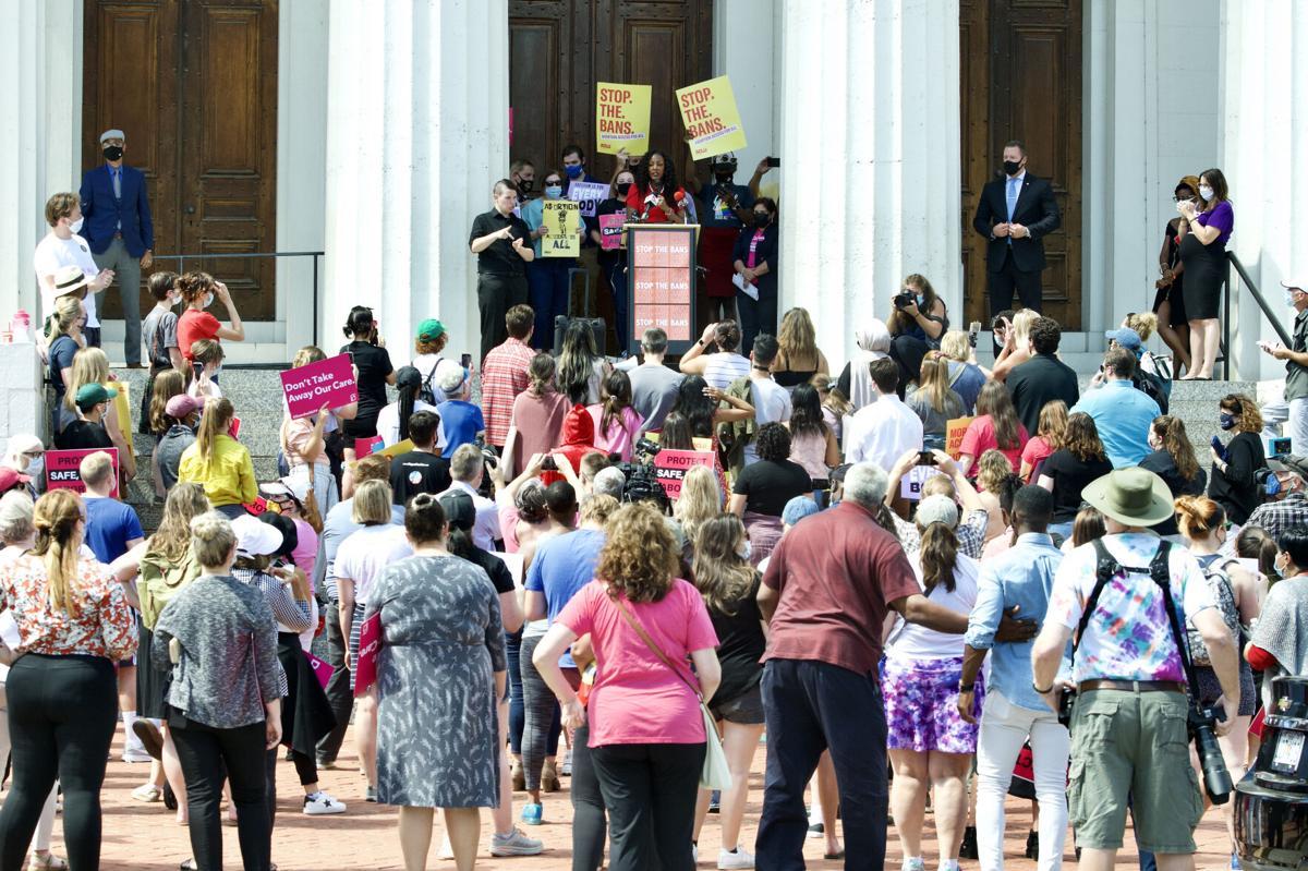 Mayor Tishaura O. Jones at reproductive rights rally