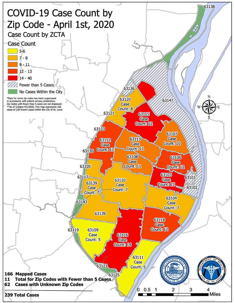 COVID-19 Case Count by Zip Code