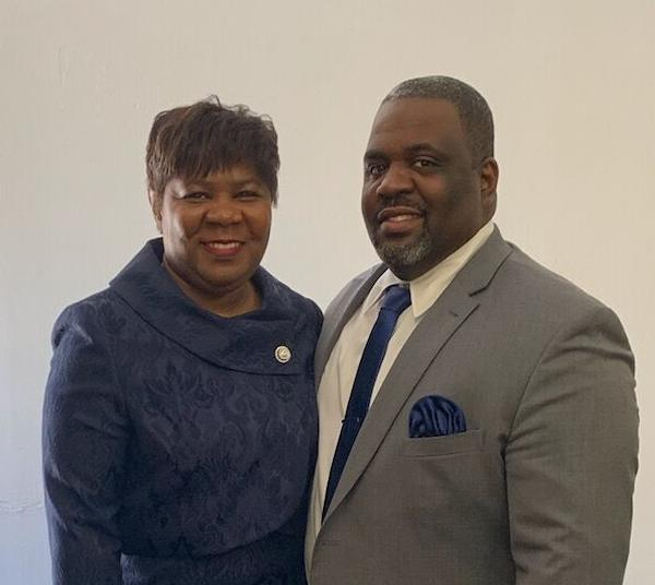 First lady Traci Lewis and Rev. Hershwanee Lewis of Hands of God Ministries