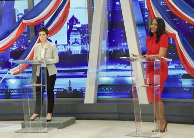 Mayoral Candidates Tishaura O. Jones and Cara Spencer in 1st debate after primary