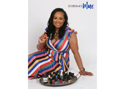 Michelle Robinson, owner and founder of DEMIblue Natural Nails
