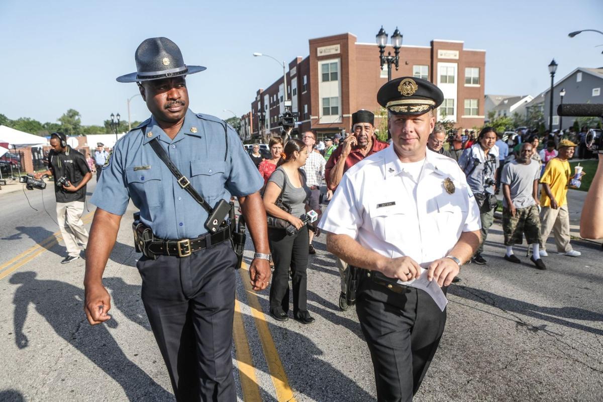 Missouri Highway Patrol Captain Ron Johnson and St. Louis Metropolitan Police Chief Sam Dotson