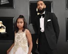 Nipsey Hussle with daughter Emani
