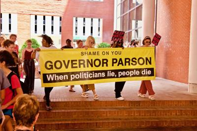 Protesting Parson