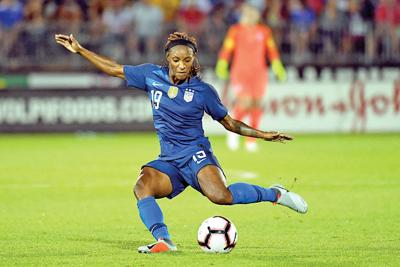 Crystal Dunn of the U.S. Women's National Soccer team
