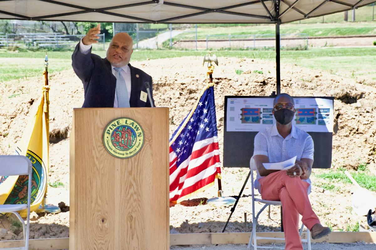 Pine Lawn Mayor Terry Epps was joined by consulting engineer Rodney Robinson