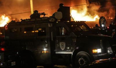 Ferguson up in flames