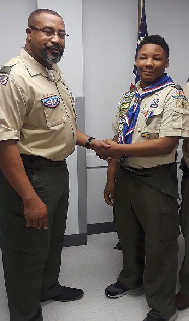 Koreyon Harris earns Eagle Scout at 14