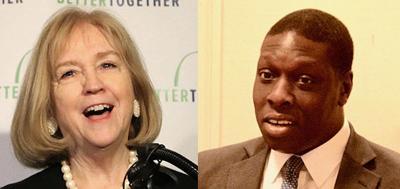 Mayor Lyda Krewson and Koran Addo