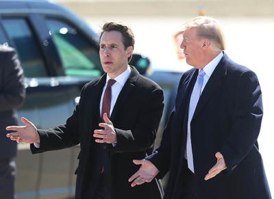 Josh Hawley and Donald Trump