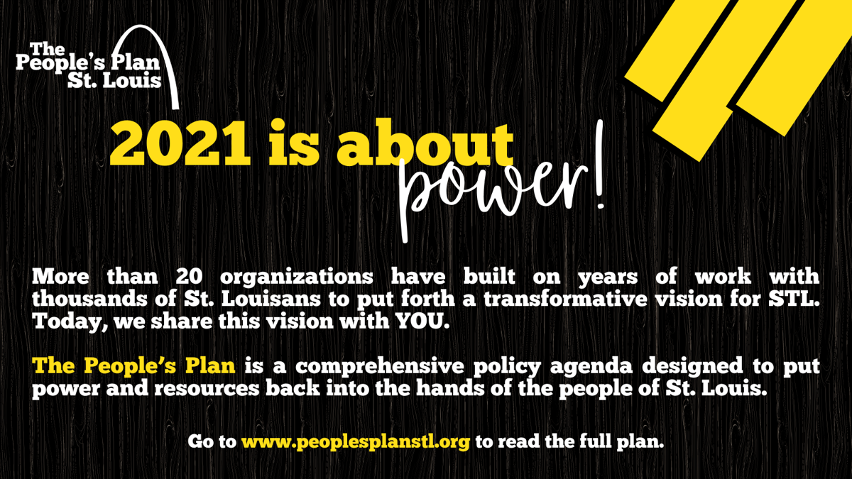 The People's Plan St. Louis lead graphic