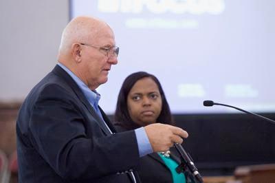 Developer Paul McKee Jr. and Alderwoman Tammika Hubbard