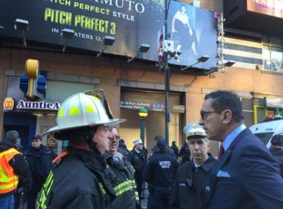 FDNY commissioner on scene of NYC explosion