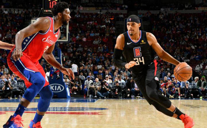 Joel Embiid and Tobias Harris