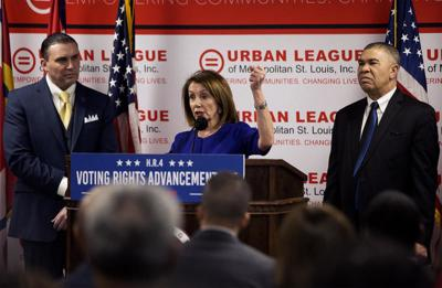 Pelosi joins Clay in Ferguson to stump for voting-rights legislation