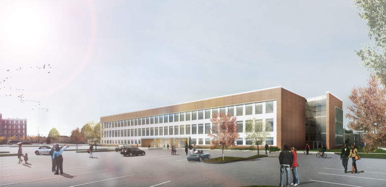 Render of new dental education and clinic building in St. Louis