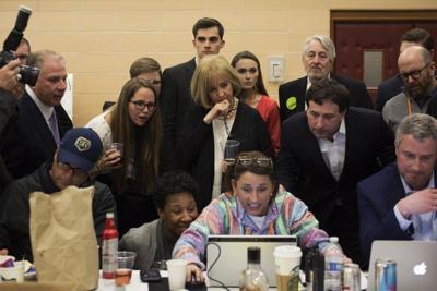 Lyda Krewson with campaign staff