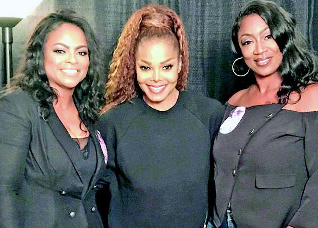 Valerie Williams and Becky Parker with Janet Jackson @ Chaifetz Arena